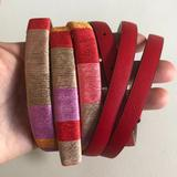 J. Crew Accessories   J.Crew Ann Taylor Women'S Skinny Belts (Lot Of 2)   Color: Pink/Red   Size: Ml