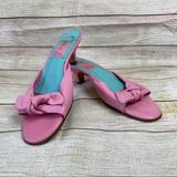 Lilly Pulitzer Shoes   Lilly Pulitzer Pink Leather Peep Toe Kitten Heels   Color: Pink   Size: 8.5