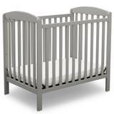 Sprout Mini Convertible Baby Crib with Mattress in Grey - Delta Children GN10007-026