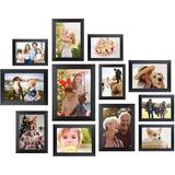 feidigeluo 12 Pcs Picture Frames, Picture Frames Set, Picture Frame Collage, Gallery Wall Frame Set, Photo Frames For Tabletop & Home Decor in Black