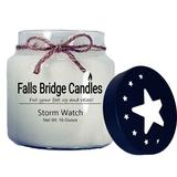 Falls Bridge Candles Storm Watch Scented Jar Candle w/ Star Lid Paraffin/Soy in White, Size 4.5 H x 4.0 W x 4.0 D in | Wayfair FL-STRMWATCH16S