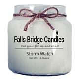 Falls Bridge Candles Storm Watch Scented Jar Candle Paraffin/Soy in White, Size 4.0 H x 4.0 W x 4.0 D in | Wayfair FL-STRMWATCH-MD
