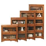 "Loon Peak® Glastonbury 29.13"" W Solid Wood Barrister Bookcase Wood in Brown, Size 74.0 H x 32.5 W x 13.0 D in | Wayfair"