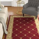 Astoria Grand Clarence Red/Beige/Gold Rug Polypropylene in Brown/Red/White, Size 63.0 W x 0.39 D in | Wayfair ASTG7574 37527479