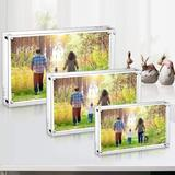 Latitude Run® 5,5X7 Inches Acrylic Picture Frames- 5 Pack, Desktop Frameless Photo Frames w/ Magnetic, Double Sided Transparent (5 Pack)   Wayfair
