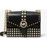 Greenwich Extra-small Studded Patent Leather Crossbody Bag - Black - Michael Kors Shoulder Bags