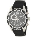 Tachymeter/chronograph Silicone Strap Watch - Black - Nautica Watches