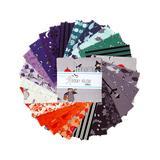 Riley Blake Designs Fabrics - Gray & Purple Halloween Charm Pack