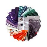 Riley Blake Designs Fabrics - Gray & Purple Halloween Fat Quarters