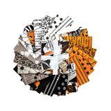 Riley Blake Designs Fabrics - Black & Orange Halloween Fat Quarters