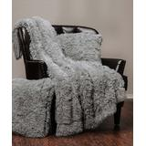 Chanasya Throws Gray - Gray Faux Fur Throw & Pillow Cover Set