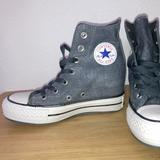 Converse Shoes | Converse All Star Platform Plus Wedge Sneakers | Color: Gray | Size: 5