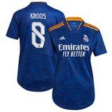 Women's adidas Toni Kroos Blue Real Madrid 2021/22 Away Replica Player Jersey
