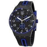 Kaicco Chronograph Black Dial Watch - Black - Swatch Watches