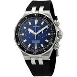 Delfin Chronograph Quartz Blue Dial Watch 3ca Buin - Blue - Edox Watches