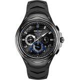 Coutura Chronograph Quartz Black Dial Watch - Black - Seiko Watches