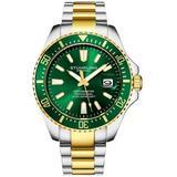 Aquadiver Green Dial Watch - Green - Stuhrling Original Watches