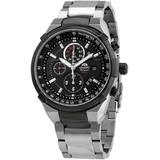 Chronograph Quartz Black Dial Watch - Black - Orient Watches