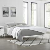 George Oliver Bugra Solid Wood Platform Bed Wood in White, Size 75.5 W x 88.1 D in | Wayfair BBD1977996C84174B9D2756406D6F367