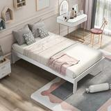 Trule Platform Bed w/ Pine Wood, No Box Spring Needed, Twin in White, Size 39.0 W in | Wayfair 05D7A850B638434B81C2ECD46595A9CB