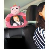 Little Tikes Girls' Car Seat Sun Shades and Mirrors PINK - Pink Unicorn Back Seat Mirror