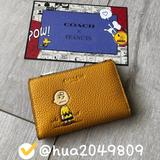 Coach Bags   Coach X Peanuts Slim Bifold Card Wallet   Color: Gold   Size: Os