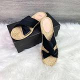 J. Crew Shoes | New J. Crew Twisted Knot Canvas Espadrille Sandals | Color: Black | Size: 10
