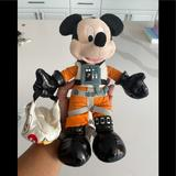 Disney Toys | Disney Mickey Mouse Race Car Driver Stuffed Toy | Color: Black/Orange | Size: Upon Request