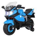 DOLIHOME Ride On Toy Racing Style Motorcycle Electric Tricycle Battery Operated w/ Light & Mp3 Plastic in Blue, Size 22.8 H x 18.3 W x 34.2 D in