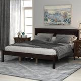 Red Barrel Studio® RLH210707MO30 Wood Platform Bed w/ Headboard & Wood Slat Wood in Brown/Green/White, Size 41.0 H x 61.0 W x 81.0 D in   Wayfair