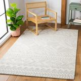 Union Rustic Aculina Southwestern Handmade Tufted Wool Light Gray/Ivory Area Rug Wool in White, Size 96.0 W x 0.39 D in | Wayfair