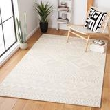 Union Rustic Aculina Southwestern Handmade Tufted Wool Ivory Area Rug Wool in White, Size 60.0 W x 0.39 D in | Wayfair