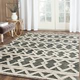 Foundry Select Nataniel Geometric Hand Hooked Wool Gray/Beige Area Rug Wool in Brown, Size 60.0 W x 0.5 D in | Wayfair