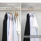 Rebrilliant Heavy Duty,Clothes Hangers,Huggable Suit Hangers,Space Saving Felt Adult Hangers Slimline Hanger Closet Organizer Standard Copper Velvet