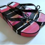 Kate Spade Shoes | Kate Spade Platform Flip Flops | Color: Black/Pink | Size: 10