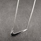 Nike Jewelry | Nike Necklace Wgiftbox | Color: Black/Silver | Size: Os