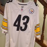 Nike Shirts   Mens Nike Pittsburgh Steelers Polamalu Jersey   Color: Gold/White   Size: Xl