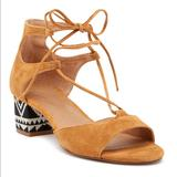 Anthropologie Shoes | Anthro Bettye Muller Bethany Lace Up Sandal Sz 6 | Color: Black/Tan | Size: 6