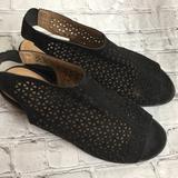 American Eagle Outfitters Shoes | American Eagle Womens Black Cutout Sandals 11w | Color: Black | Size: 11w