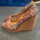 Nine West Shoes   Colorful Wedges   Color: Blue/Pink   Size: 9.5
