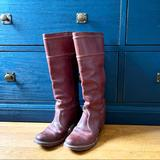 Anthropologie Shoes   Frye For Anthropologie Leather Calf Boots   Color: Brown/Red   Size: 6.5
