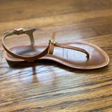Michael Kors Shoes   Michael Kors Josie' T-Strap Leather Sandal   Color: Brown   Size: 8