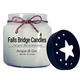 Falls Bridge Candles Acqua Di Gio Scented Jar Candle w/ Star Lid Paraffin/Soy in White, Size 4.0 H x 4.0 W x 4.0 D in   Wayfair FL-AQDIGIO16S