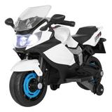 HUAMEI Ride On Toy Racing Style Motorcycle Electric Tricycle Battery Operated w/ Light & Mp3 Plastic in White, Size 22.8 H x 18.3 W x 34.2 D in