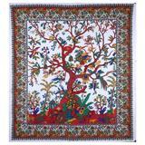 Red Barrel Studio® Tapestries Indian Cotton Twin Bedspread Picnic Sheet Wall Decor Blanket Wall Art Hippie Bedroom Decor (Medium, 60X54 Inch) Cotton