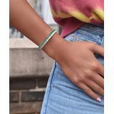 Golden Moon Women's Bracelets Emerald - Green & White Marquise Link Tennis Bracelet With Swarovski Crystals