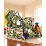 HearthSong Indoor Forts & Tents - Mossy Fortress Fantasy Fort Kit