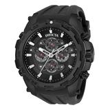 Invicta Men's Watches - Black & Gunmetal Specialty Quartz Multifunction Silicone-Strap Watch