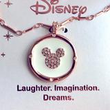 Disney Jewelry | Disney Mickey Mouse Rose Gold Tone 18 Necklace | Color: Gold/Silver | Size: 18