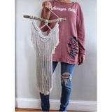 Urban Outfitters Wall Decor | Macrame Wall Hanging Cotton Tapestry Bohemian | Color: Cream/White | Size: Os